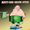 Cartoon: Bathroom scales (small) by toons tagged selfie,stick,bathroom,scales,overweight,obese,fat,big,tummy