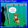 Cartoon: Battery charging (small) by toons tagged playground,swings,battery,charger,children,playing