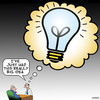 Cartoon: Big idea (small) by toons tagged business,ideas,new,idea,light,globe