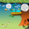 Cartoon: Birdbrain (small) by toons tagged stupid,birdbrain,birds,nest,idiots,eggs