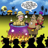 Cartoon: Celebrity chef (small) by toons tagged cannibals,celebrity,chef,explorers,cooking,history