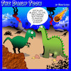 Cartoon: Climate change event (small) by toons tagged dinosaurs,climate,change,meteors,ice,age