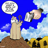 Cartoon: Cloud back up (small) by toons tagged ten,commandments,moses,cloud,storage,external,hard,drive,computers