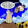 Cartoon: Cloud support (small) by toons tagged software,updates,tablets,cloud,storage,support,tech,moses,ten,commandments