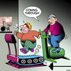 Cartoon: Coming through (small) by toons tagged exercise,bike,running,machine,gyms,working,out,cyclist,riding,keeping,fit,overweight