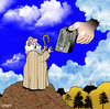 Cartoon: Copyright (small) by toons tagged copyright,plagiarism,ten,commandments,moses