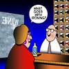 Cartoon: Correct wine to drink (small) by toons tagged wine,sales,ironing,what,to,drink,with,food
