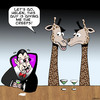 Cartoon: Creepy (small) by toons tagged vampires,giraffe,long,neck,animals