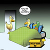 Cartoon: Decoy duck (small) by toons tagged ducks,decoy,blow,up,doll,duck,season,animals,birds,sex,toys