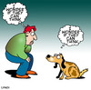 Cartoon: dog think (small) by toons tagged dogs,canine,philosophy,thought,bubble
