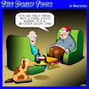 Cartoon: Dog tricks (small) by toons tagged dogs,wine,trained,dog,new,tricks