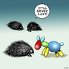 Cartoon: Doomed from the start (small) by toons tagged porcupine,hedgehog,balloon,animals,balloons