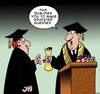Cartoon: Educated guess (small) by toons tagged diploma,college,teaching,professor,graduation,ceremony,study