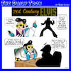 Cartoon: Elvis (small) by toons tagged elvis,the,king,blue,suede,shoes,songs
