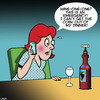 Cartoon: Emergency (small) by toons tagged 911,wine,dinner,bottle,corkscrew,emergency,number