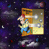 Cartoon: emergency exit (small) by toons tagged uninverse,space,exit,emergency,afterlife