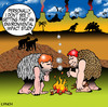 Cartoon: environmental impact study (small) by toons tagged environment,environmental,impact,study,invention,of,fire,prehistoric,caveman,work,safety,smoke,inventions,monkeys,bronze,age