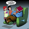 Cartoon: Facebook (small) by toons tagged facebook,napping,books,power,nap,social,media,recliner,chair