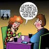Cartoon: First date (small) by toons tagged first,date,staring,at,phone,smart,phones