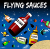 Cartoon: flying sauces (small) by toons tagged flying,saucers,space,tomato,sauce,ketchup,mayonnaise,food,craft,condements,aliens,myths,universe