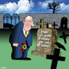 Cartoon: follow me (small) by toons tagged twitter,facebook,social,networks,email,text,mobile,phone,gravesite,cemetary,death,afterlife