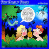 Cartoon: Forbidden fruit (small) by toons tagged serpent,forbidden,fruit,pineapples,snakes