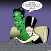 Cartoon: Frankenstein (small) by toons tagged bride of frankenstein small penis bedroom embarrassment body parts