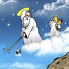 Cartoon: Gods shot (small) by toons tagged golf,angels,sport,clubs
