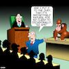 Cartoon: Going Ape (small) by toons tagged apes,lawyers,courtroom,law,of,the,jungle,jury,animals,nature,monkees