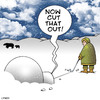 Cartoon: Golfing eskimo (small) by toons tagged golf,golfer,eskimo,arctic,sport,igloo,ball,sports,putting,snowing,weather