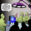 Cartoon: Google this (small) by toons tagged operating,theater,surgeon,nurses,search,engine,body,organ,google,surgery