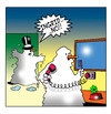 Cartoon: hairdrying snowman (small) by toons tagged snowman,snow,hairdryer,winter,personal,grooming,self,image,toiletries