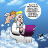 Cartoon: Helping the elderly get online (small) by toons tagged going,online,elderly,and,computers,cherub,angels,old,people,pensioners,digital,age,reply,all,laptops