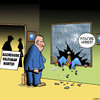 Cartoon: Hired (small) by toons tagged aggression,violence,salesman,sales,resume