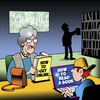 Cartoon: How to read (small) by toons tagged reading,learning,internet,old,people