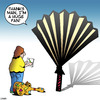 Cartoon: Huge fan (small) by toons tagged rock,star,groupies,autographs,fans