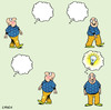 Cartoon: idea man (small) by toons tagged thought,bubble,comic,ideas,man,thinking,light,bulb,idea,thoughts,comics,revelation,watch,this,space,thoughtless,dumb