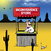 Cartoon: Inconvenience store (small) by toons tagged convenience,store,shops,shopping,sales
