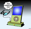 Cartoon: iPod-therefore iAm (small) by toons tagged ipod,social,media,music,playlists,iphone,headphones,songs