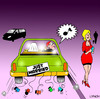 Cartoon: Just married (small) by toons tagged marriage,wolf,whistle,divorce,whistling,just,married,relationships,love,unfaithful,wedding,car