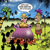 Cartoon: Kids eat free (small) by toons tagged cannibals,kids,eat,free,ancient,customs,menu,explorers,natives,jungle