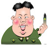 Cartoon: Kim Jong-un (small) by toons tagged north,korea,kim,jong,un,nuclear,weapons,holicost,hermit,state,atomic,option,donald,trump