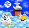 Cartoon: Lazerus (small) by toons tagged lazerus,god,heaven,religion,reincarnation,afterlife,old,age,angels,st,peter,gates,of