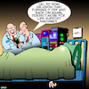 Cartoon: Life support machine (small) by toons tagged tech,support,life,turn,off,and,back,on,doctors,intensive,care,deceased