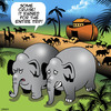 Cartoon: Lousy cruise (small) by toons tagged noahs,ark,elephants,animals,cruising,ship,cruises,rain,bad,weather
