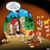 Cartoon: Media room (small) by toons tagged caveman,media,room,parents,retreat,cave,paintings,tv,neanderthal,man