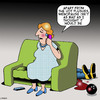 Cartoon: Menopause (small) by toons tagged menopause,menopausal,hot,flushes,change,of,life,bowling,ball,womens,changes,middle,age