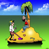 Cartoon: Metal detector (small) by toons tagged metal,detector,desert,island,stranded,searching,for,money,lst