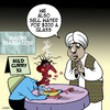 Cartoon: mild curry (small) by toons tagged curry,restaurants,indian