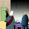 Cartoon: Moses at the urinal (small) by toons tagged moses,urinal,mens,room,bathroom,toilet